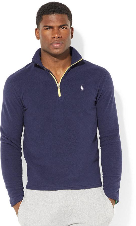 e3c7220a868709 Polo Ralph Lauren Half Zip Microfleece Pullover, $98 | Macy's ...