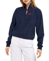 BDG Urban Outfitters Half Zip Terry Cloth Pullover