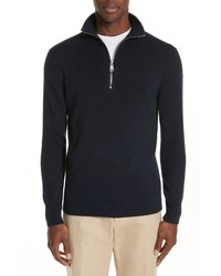 Burberry Hendon Quarter Zip Cashmere Sweater