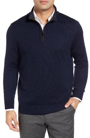 ea93f0c178add9 Thomas Dean Merino Wool Quarter Zip Sweater, $160 | Nordstrom ...