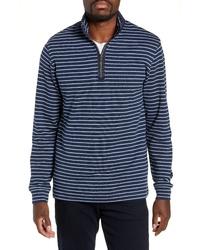 Bugatchi Mock Neck Half Zip Pullover