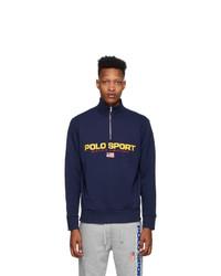 Polo Ralph Lauren Navy Fleece Sweatshirt