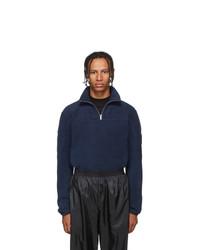 Gmbh Navy Moses Teddy Half Zip Sweater