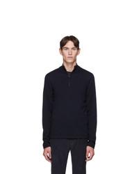 Hugo Navy Wool San Gottardo Turtleneck Sweater