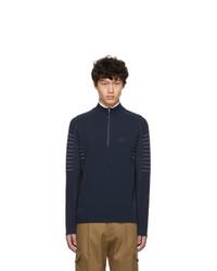 BOSS Navy Zoaya Pro Half Zip Sweater