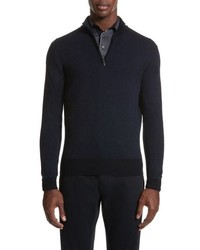 Canali Quarter Zip Wool Sweater