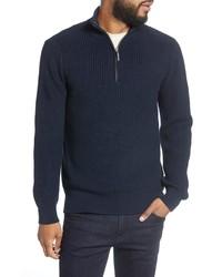 Goodlife Slim Fit Quarter Zip Ribbed Sweater