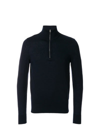 Burberry Zip Neck Cashmere Cotton Sweater
