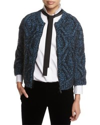 Cable knit zip front cardigan medium 4156792