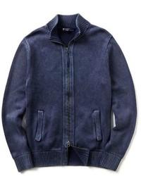 Daniel Cremieux Cremieux Gart Dyed Zip Front Cardigan