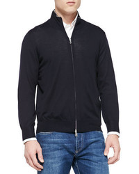 Brunello Cucinelli Fine Gauge Full Zip Sweater