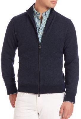 2c7fe350553 Full Zip Cashmere Sweater. Navy Zip Sweater by Polo Ralph Lauren
