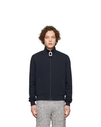 JW Anderson Navy Neckband Track Sweater