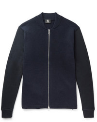Paul Smith Ps By Jersey Panelled Wool Zip Up Cardigan