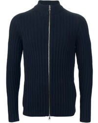 Eleventy Ribbed Zipped Cardigan