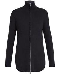 Ry zip through ribbed knit cashmere sweater medium 781763