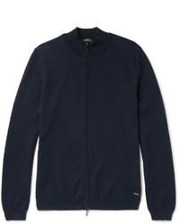 Hugo Boss Slim Fit Cotton Zip Up Sweater