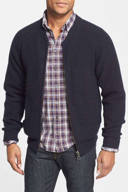 Gant Wool Blend Rib Knit Zip Cardigan | Where to buy & how to wear