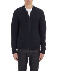 Vince Zip Front Sweater Blue