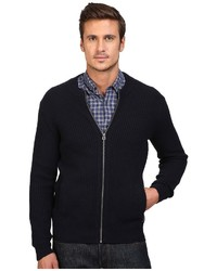 Scotch & Soda Zip Thru Cardigan In Merinocotton Quality Sweater