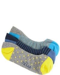 The Tie Bar The Grey No Show Sock Pack