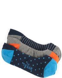 The Tie Bar The Navy No Show Sock Pack