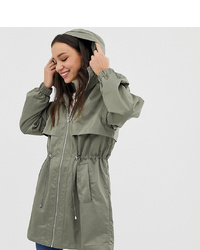 Asos Tall Asos Design Tall Lightweight Parka With Jersey Lining
