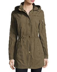 Brushed cotton anorak jacket green medium 3756838