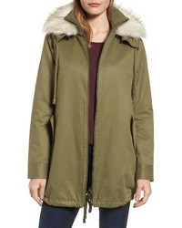 Faux fur collar a line anorak medium 4913415