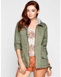 Ashley Fleece Hood Anorak Jacket