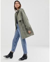 ASOS DESIGN Lightweight Parka With Jersey Lining
