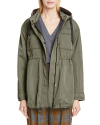 Brunello Cucinelli Monili Pocket Hooded Parka