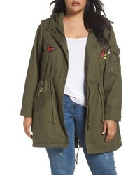 Steve Madden Plus Size Patch Cotton Anorak