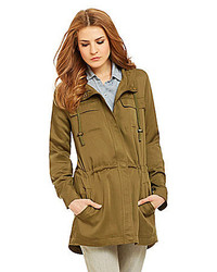 Eileen Fisher Polished Woven Tencel Anorak Jacket