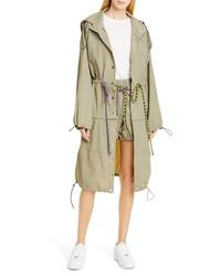 Proenza Schouler Pswl Drawstring Waist Convertible Parachute Coat