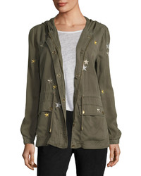Bagatelle Star Embroidered Twill Anorak Jacket