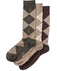 Polo Ralph Lauren 3 Pack Argyle Socks