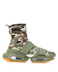 Balmain B Bold Camouflage Sneakers