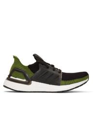 adidas Originals Black And Green Ultraboost 19 Sneakers