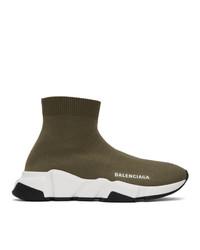 Balenciaga Green Speed Sneakers