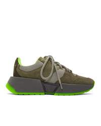 MM6 MAISON MARGIELA Khaki Chunky Low Top Sneakers