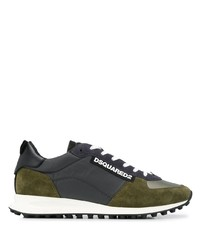 DSQUARED2 Low Rise Panelled Sneakers