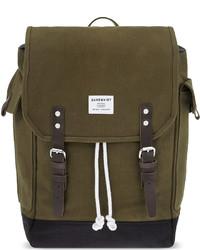 SANDQVIST Bob Waxed Canvas Backpack