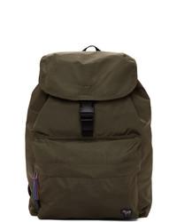 Ps By Paul Smith Green Nylon Zebra Backpack