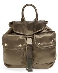 Steve Madden Small Satin Backpack Black