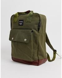 Jack & Jones Smart Backpack With Handle In Khaki
