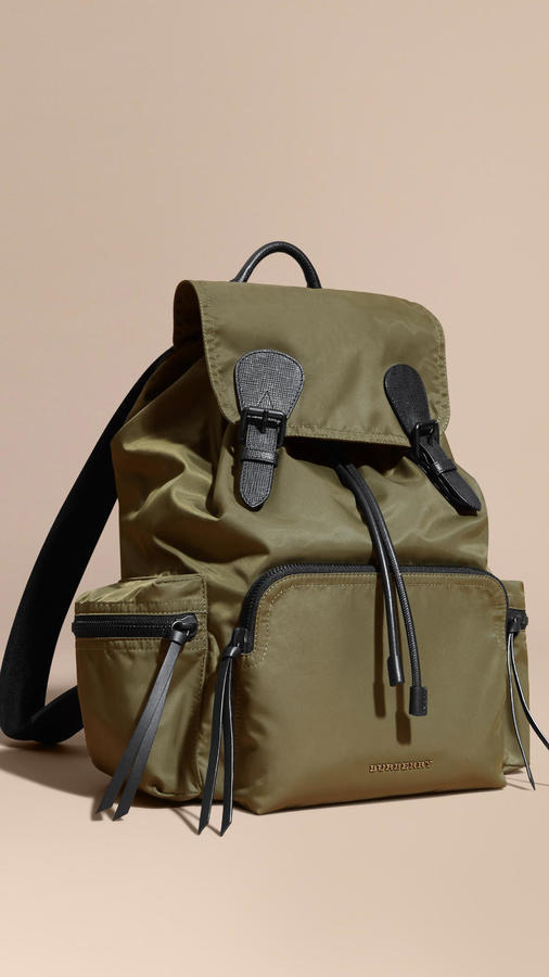 5fb2a1d7996e Burberry The Large Rucksack In Technical Nylon And Leather, $1,250 ...
