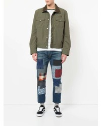 Junya Watanabe MAN Contrast Collar Buttoned Jacket