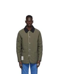 Maison Margiela Green Recycled Nylon Military Jacket