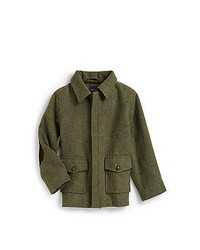 Oscar de la Renta Boys Wool Barn Jacket Green
